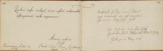 Schlegel, Georg Adolph Bonaventura.Fautoribus et amicis Sacrum. Vorwiegend dt. u.latein. Handschrift