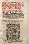 Aventinus (Thurmair), Johann.Chronica, Darinn nicht allein deá gar alten HauáBeyern ... Herkommen,
