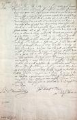 Marine.2 Schreiben der englischen Kaufleute Ralph undWilliam Hurt an ihren Vater (in London?).