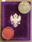 "Franz Joseph I., Kaiser v. ™sterreich u. K""nig v. Ungarn.Adelsbrief frIgnaz Ritter von Zw""lf,"