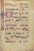 Antiphonar.2 Tle. in 1 Bd. Lateinische Handschriftauf Pergament. Spanien (Avila?) um 1520 bzw. um