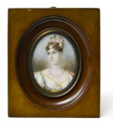 RENARD, early 19th century French school Portrait of Pauline Bonaparte, Miniature on ivory, signed