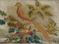 Great Britain, 19th century Collection of three embroideries, Animal themes and St. Hubert Framed