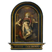 17th century Flemish school Our Lady of Sorrows, Oil on reinforced panel. Antique restoration, some