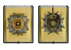 Belgium Order of Leopold, Grand officer's breast badge, bilingual, signed De Greef. In a case by