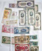 China mixed lot of banknotes, including Central Bank of China, 10 Dollars, 1923, A115988, 5 Yuan,
