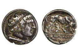 Rome Republic, anonymous, Didrachm, 7.00g, Rome or Neapolis (?), 264-255 B.C., diademed head of