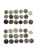 Rome Lot of 17 Denarii, including Septimus Severus (11), rev. Victory, P M TR P VIII COS II P P,