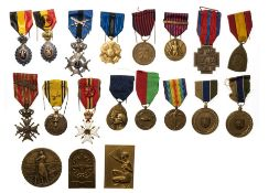 Belgium Family Denuit's group of medals and orders, including Order of Leopold II, knight's cross