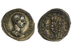 Rome Diadumenian (Caesar, 217-218), Denarius, 3.14g, Rome, draped bust and cuirassed right, rev.