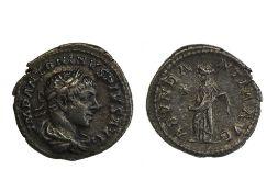 Rome Elagabal (218-222), Denarius, 2.57g, Rome, laureate, draped and cuirassed bust right, rev.