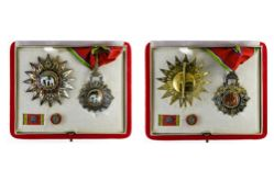 Thailand Order of the White Elephant, Commander's cross, 87mm and breast star, 80mm, with lapel pin.