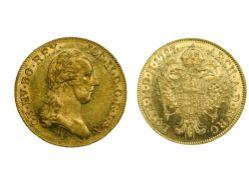 Austria Joseph II (1765-1790), Ducat, 3.48g, 1787 A, Vienna, laureate head right, rev. imperial