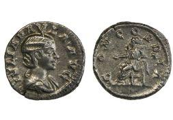 Rome Julia Paula, first wife of Elagabal (219-220), Denarius, 3.41g, Rome, draped bust right, rev.