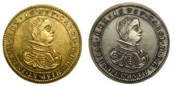 Belgium SociŽtŽ EuropŽenne de Numismatique (European Numismatic Society), Jetons (2), one in gold,