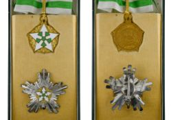 Syria Order of Civilian Merit, Grand officer's group, Commander's cross, 70mm and breast star, 66mm.