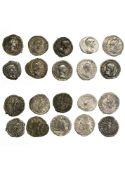 Rome Lot of 10 Denarii, Caracalla (7), rev. MONETA AVG, rev. IMP [...] FELICITAS, rev. VOTA SVS