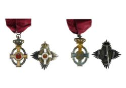 Greece Order of George I, Commander's cross, 87mm x 47mm and Grand officer's breast badge, 75mm,