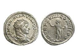 Rome Caracalla (197-217), Antoninianus, 5.30g, Rome, 216, radiate and draped bust right, rev. Sol