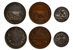 Russia Agriculture, Medal of the Russian Royal Society of Poultry Breeders, 1885, in silver, 46mm,