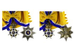 Netherlands Order of Orange Nassau, Grand Cross group, civilian, cross, 85mm and breast star,