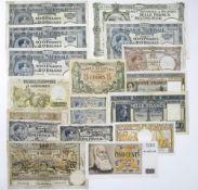 Belgium Banque Nationale de Belgique, Mixed lot including, 1000 Francs/200 Belgas, 05.10.34, 426.P.