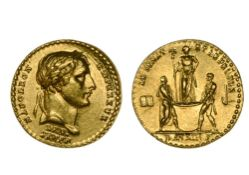 France Napoleon I (1804-1814), small coronation medal, 1.90g, 13mm, in gold, AN XIII, by Denon and