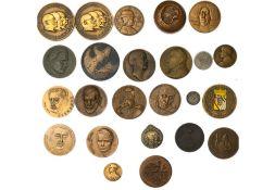 Europe mixed lot of mainly bronze medals, including Belgium, Carl de Cock, Emile Braun ; Courtens,