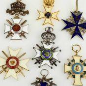"""""""Deutsche Königsorden"""" insg. 7 aufwendige Repliken von historischen Orden, dabei u.a. 1 x """"Das Kreuz"""