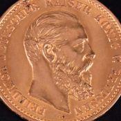 Goldmünze Kaiserreich - Preußen 1888 10 Mark in Gold, 900/1000, 3,58 g, av. Friedrich Deutscher