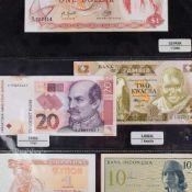 Konvolut Papiergeld alle Welt insg. über 40 Scheine, dabei u.a. 1 x 10 Sen Indonesien 1964, 1 x