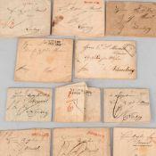 Konvolut Korrespondenz 19. Jh. insg. 11 Briefe aus der Zeit ca. 1827-1849, sog. Vorphilatelie,