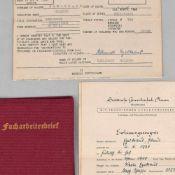 Konvolut Dokumente III. Reich 1 x Facharbeiterbrief Vomag Maschinenfabrik AG Plauen als