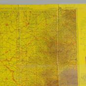 Luftwaffenkarte II. WK hrsg. vom Generalstab der Luftwaffe 7. Abt. 1943, sog. Fliegerkarte, Doppel-