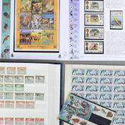 Konvolut Briefmarken und Belege postfrisch und gestempelt. dabei u.a. 2 x Jahressammlung der