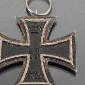 Kampfabzeichen I. WK Eisernes Kreuz 1914, magnetisch, Trageöse, geringe Alters- und Gebrauchsspuren