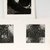 Morgner, Michael (1942 Chemnitz - tätig ebd.) insg. 3 grafische Arbeiten, je Prägedruck und
