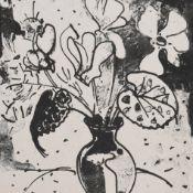 Hippold, Erhard (1909 Wilkau - 1972 Bad Gottleuba) Lithografie, Blumenstillleben, Vase mit