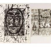 """Hofmann, Veit (1944 Dresden - tätig ebd.) 2 Lithografien, """"Der Nullte"""" sowie """"Parklandschaft"""", je"""