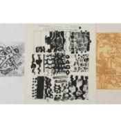"""Paloma, Pipi (1938 Chemnitz - ) 3 Grafiken auf Bütten, dabei: Farbradierung, """"Zu Picassos"""