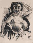 Dix, Otto (1891 Gera - 1969 Singen) Lithografie, Halbakt, unten rechts in Blei signiert und