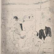 """Voigt, Bruno (1912 Gotha - 1989 Berlin) Kaltnadelradierung, """"Tanz-Bar"""", unten in Blei signiert,"""