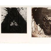 Morgner, Michael (1942 Chemnitz - tätig ebd.) 2 grafische Arbeiten, je Prägedruck und