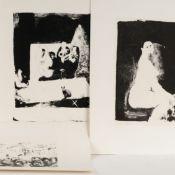 "Wunsch, Axel (1941 Kändler - tätig in Chemnitz) 5 Lithografien, u.a. betitelt ""Akt"", ""Straßenszene"