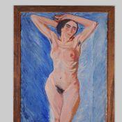 Bentzens, Axel (1893 Kopenhagen - 1952 ebd.) Öl/Lwd., stehender weiblicher Akt, unten rechts