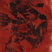 Steding, Willy (um 1920 - 1950 tätig in Hamburg-Wandsbek) Lithografie in Rot und Schwarz auf