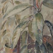 Hornburg, Hedwig (1885 Braunschweig - 1955 ebd.) Aquarell/Japanpapier, Stillleben mit Topfpflanze (