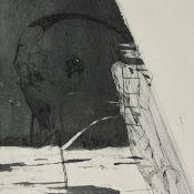 """Kozik, Gregor Torsten (1948 Hildburghausen - tätig in Chemnitz) Aquatintaradierung auf Bütten, """""""