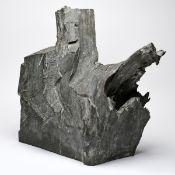 """Brockhage, Hans (1925 Schwarzenberg - 2009 ebd.) Bronzeplastik, """"Die Ansprache"""" / """"Gegebenes"""