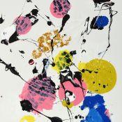 Kratzsch, Gerold (1944 Rochlitz - tätig in Colditz) Acryl auf Hartfaser, ohne Titel, abstrakte